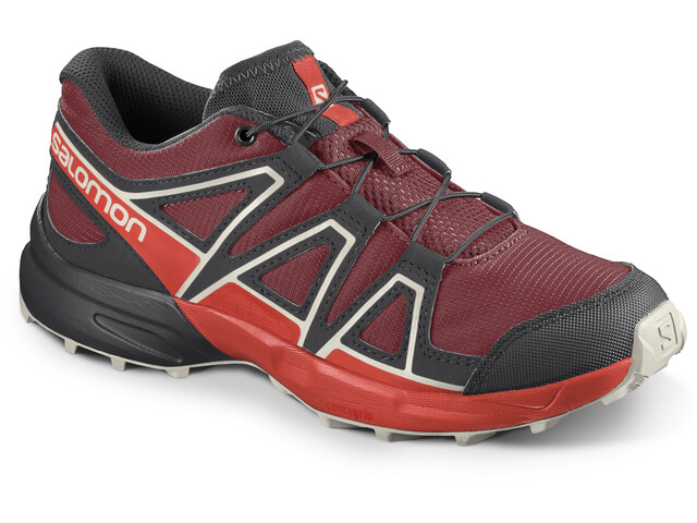 Salomon Speedcross Chaussures running Enfant, red dahlia/cherry tomato/vanilla ice